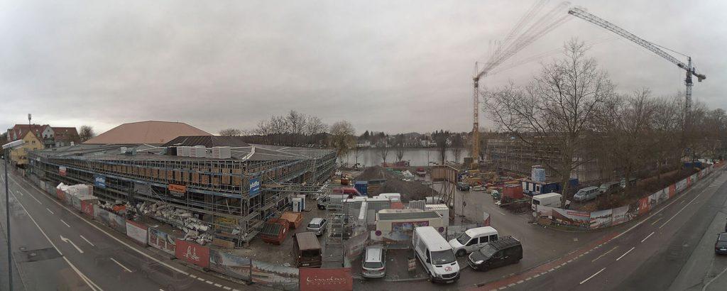 Ansicht der Baustelle